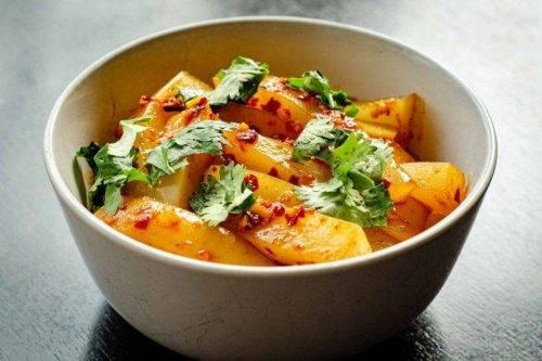 Vegetarian Entrees - Laphing - Himalayan Kitchen