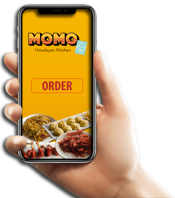 Momo App Ordering Right Hand- Himalayan Kitchen